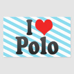 I love Polo Rectangular Sticker