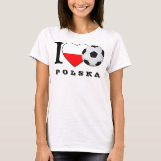 """I love Polska Soccer"" football heart Poland Heart T-Shirt"
