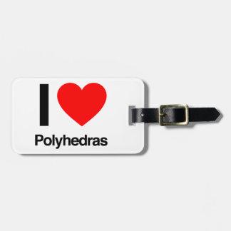 i love polyhedras tag for luggage