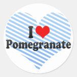 I Love Pomegranate Round Sticker