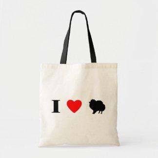 I Love Pomeranians Bag