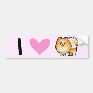 I Love Pomeranians Bumper Stickers