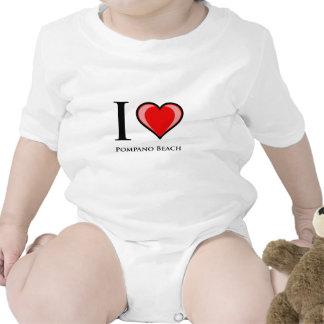 I Love Pompano Beach Tee Shirt