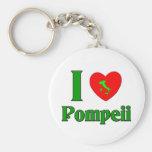 I Love Pompeii Italy Basic Round Button Keychain