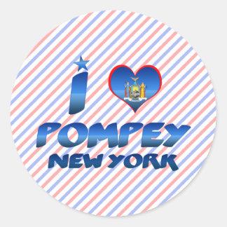 I love Pompey, New York Stickers