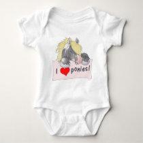 I love Ponies! Baby Bodysuit