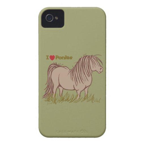I Love Ponies Case-Mate iPhone 4 Case