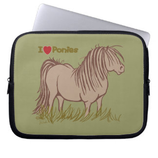 I Love Ponies Computer Sleeve