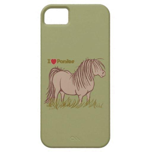 I Love Ponies iPhone SE/5/5s Case