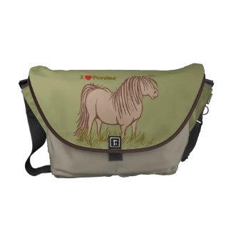 I Love Ponies Messenger Bag