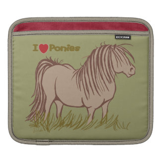 I Love Ponies Sleeve For iPads