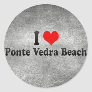I Love Ponte Vedra Beach, United States Round Sticker