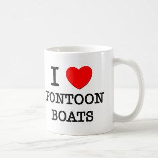 I Love Pontoon Boats Coffee Mug