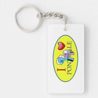 I Love Ponyville Keychain