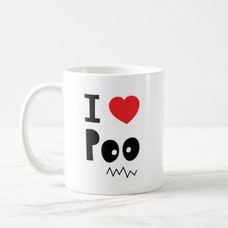 I love poo basic white mug