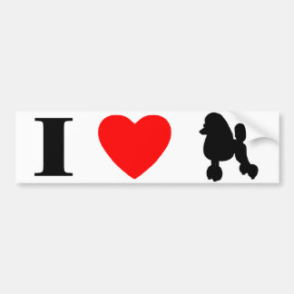 I Love Poodles Bumper Sticker