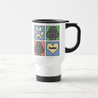 I Love Poodles 15 Oz Stainless Steel Travel Mug
