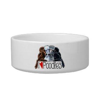 I Love Poodles Pet Water Bowls