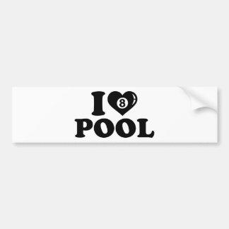I love Pool billiards Bumper Stickers
