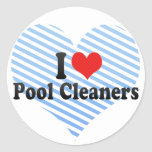I Love Pool Cleaners Round Sticker