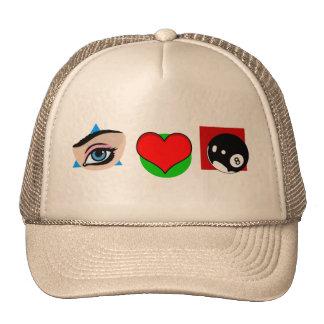I love pool trucker hat
