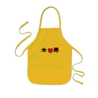 I  love pool kids' apron
