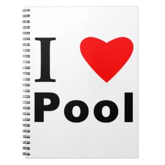 I Love Pool Note Book