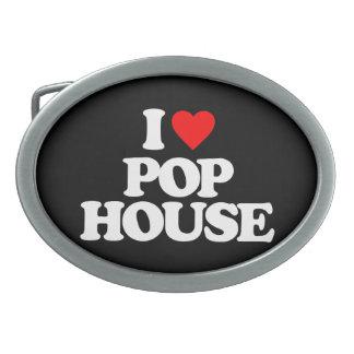 I LOVE POP HOUSE BELT BUCKLE