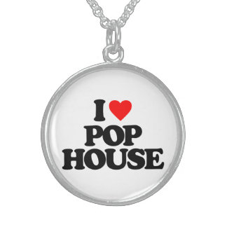I LOVE POP HOUSE STERLING SILVER NECKLACE
