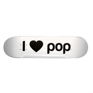 I Love Pop Custom Skate Board
