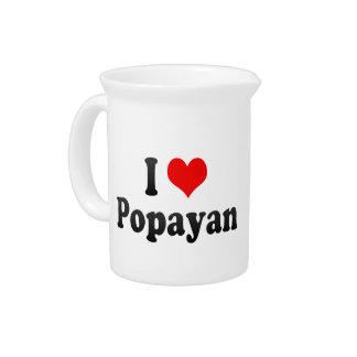 I Love Popayan, Colombia Pitcher