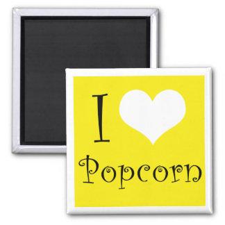I Love Popcorn Magnet