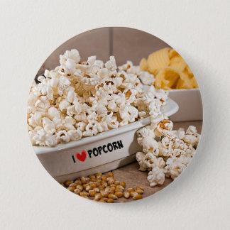 I Love Popcorn Pinback Button