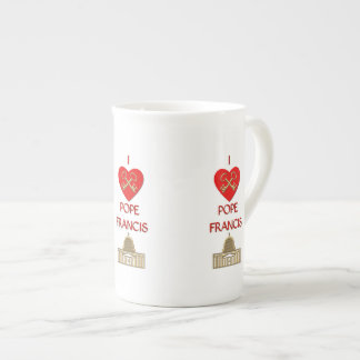 I Love Pope Francis Porcelain Mugs