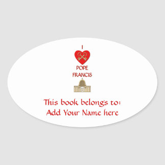 I Love Pope Francis Oval Sticker