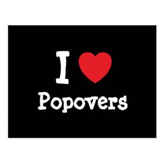 I love Popovers heart T-Shirt Post Card