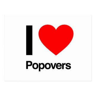 i love popovers post card