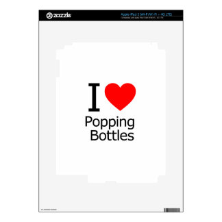 I Love Popping Bottles iPad 3 Decals