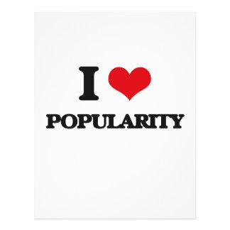 "I Love Popularity 8.5"" X 11"" Flyer"