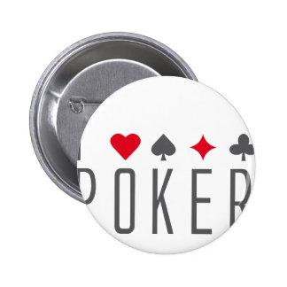 I Love póquer Pin