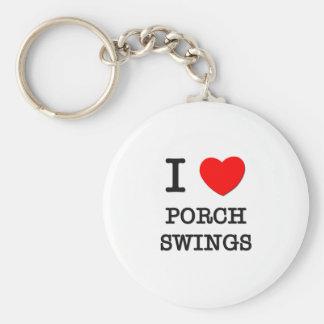 I Love Porch Swings Key Chains