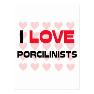 I LOVE PORCILINISTS POSTCARD