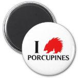 I Love Porcupines Refrigerator Magnets