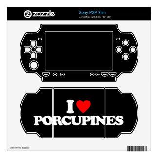I LOVE PORCUPINES SONY PSP SLIM SKIN