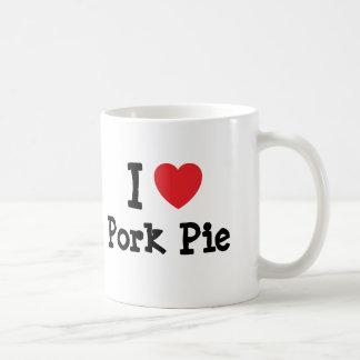I love Pork Pie heart T-Shirt Classic White Coffee Mug