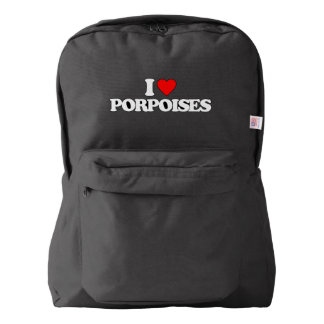 I LOVE PORPOISES AMERICAN APPAREL™ BACKPACK