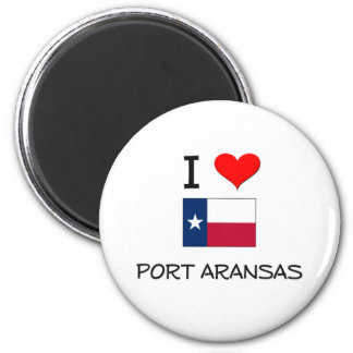 I Love Port Aransas Texas Fridge Magnets