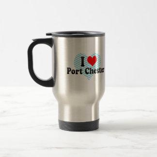 I Love Port Chester, United States 15 Oz Stainless Steel Travel Mug