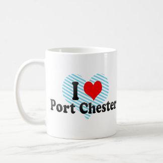 I Love Port Chester, United States Classic White Coffee Mug