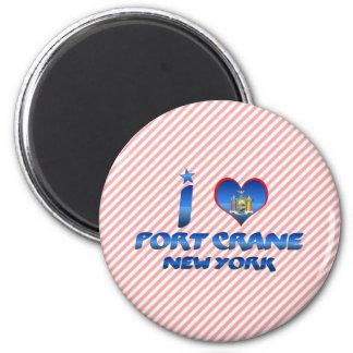 I love Port Crane, New York Magnet
